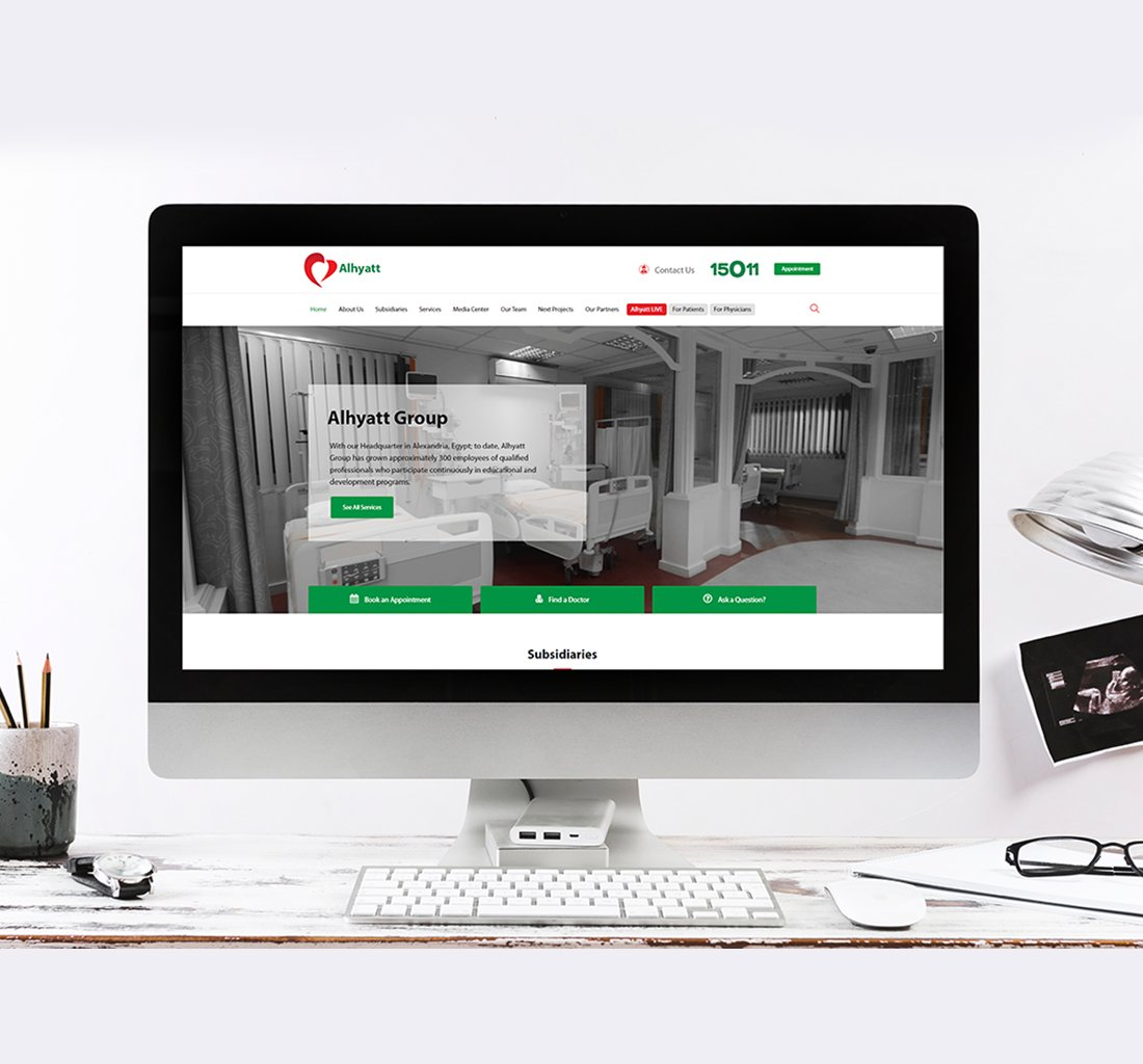 Alex Web Design and development company clients in Egypt Alhyatt Group