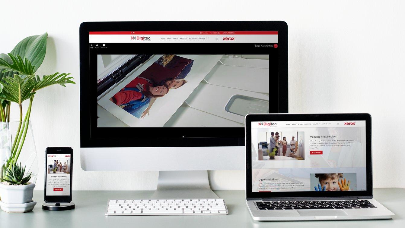 Alex Web Design and development company clients in Egypt Digitec Xerox Company