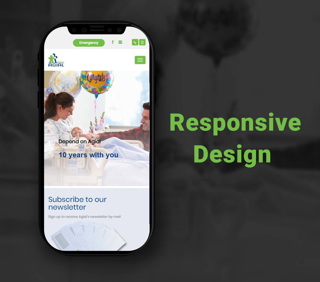 Alex Web Design and development company clients in Egypt Agial Hospital