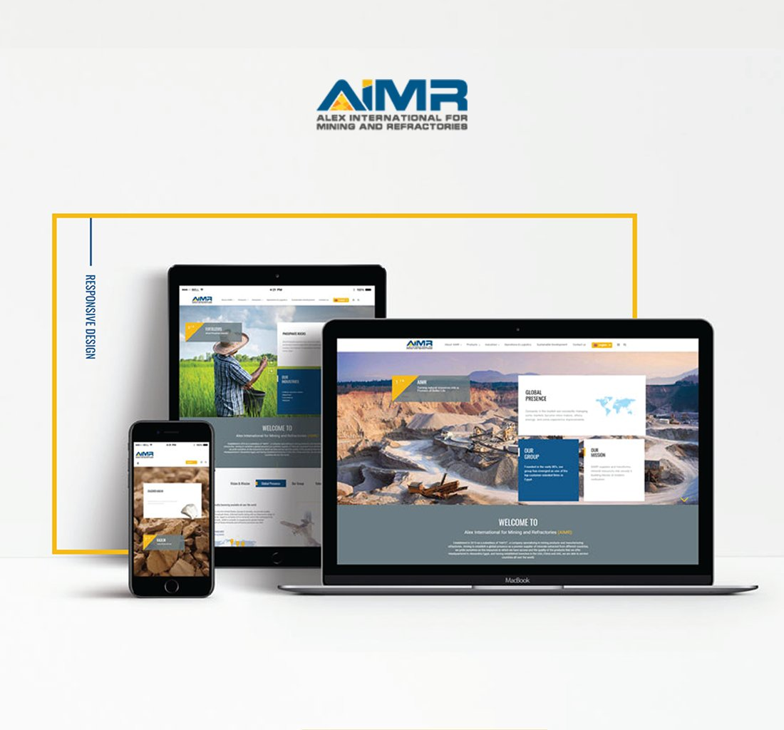 Alex Web Design and development company clients in Egypt Aimr Mining