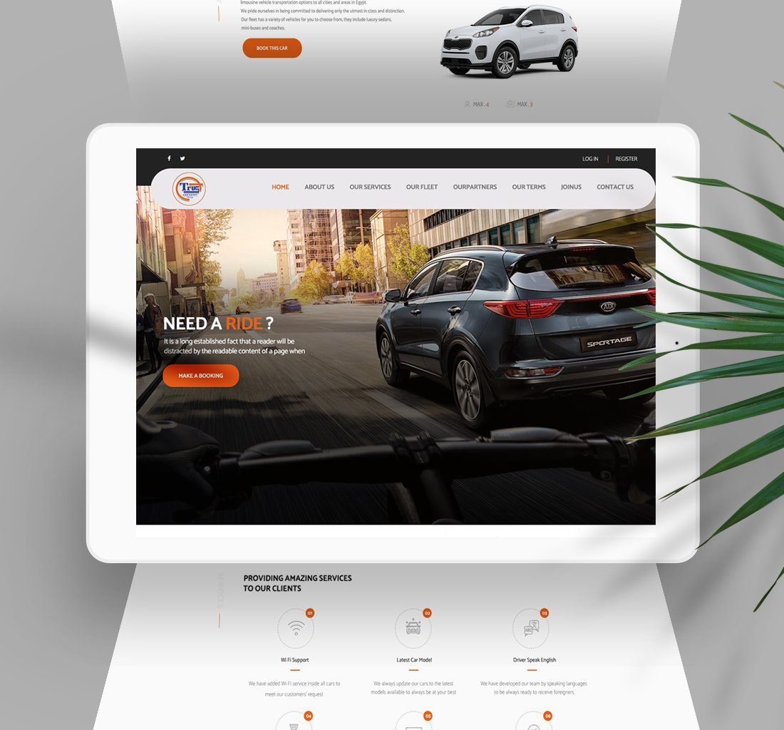 Alex Web Design and development company clients in Egypt Trust Car