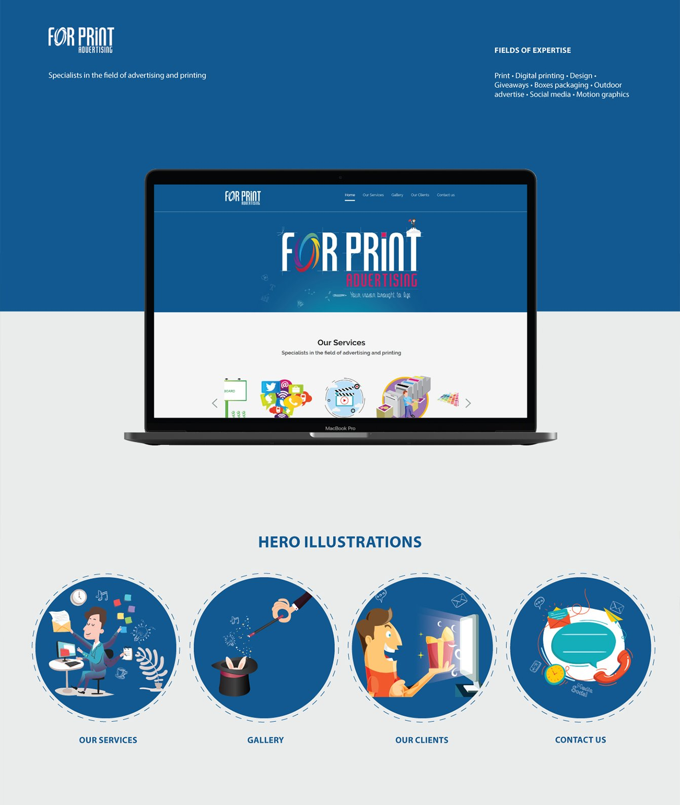 Alex Web Design and development company clients in Egypt For Print Company