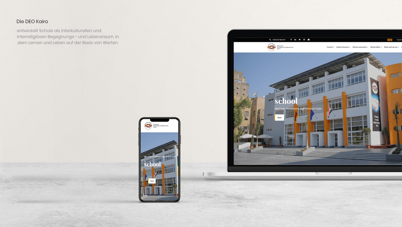 Alex Web Design and development company clients in Egypt German School-DEO